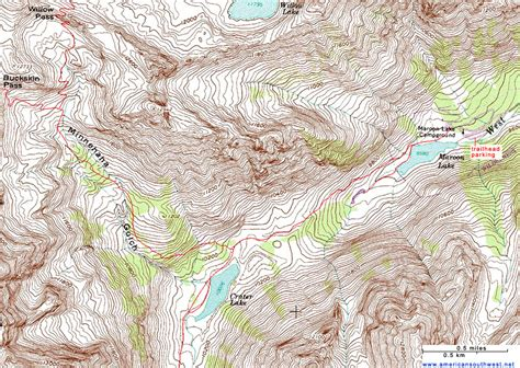 Florissant Fossil Beds by Topographic Map Of The Crater Lake Trail Maroon Bells