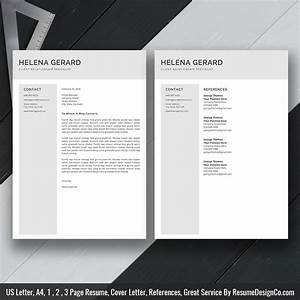 Clean Resume Template For Ms Word  Simple Curriculum Vitae