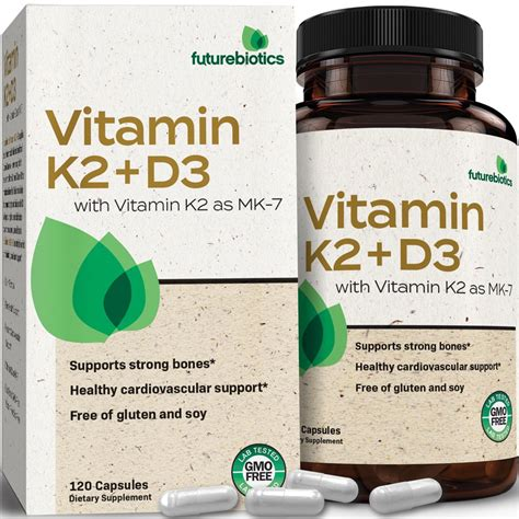 While studies have shown that both d2 and d3 can raise blood levels of vitamin d to healthy levels, they have also shown that d3 does a far better job maintaining those levels than d2. Futurebiotics Vitamin K2 (MK7) with D3 Supplement - Bone ...