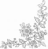 Coloring Flower Border Printable Adult Borders Corner Embroidery Sheets Coupons Fairy Adults Floral Flowers Colorpagesformom Getcolorings Getdrawings Template Templates Patterns sketch template