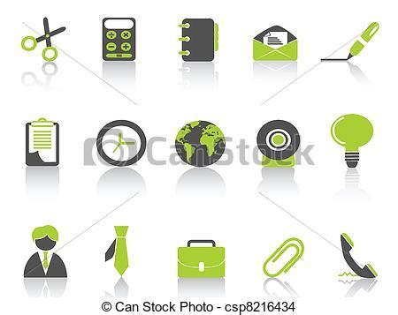 icone de bureau vecteur eps de série vert bureau icône isolé vert