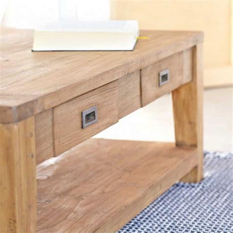 canapé portland table basse en bois de teck recyclé 120 cargo table