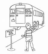 Bus Coloring Pages Goodbye Educational Printable Momjunction Saying Learning Games sketch template