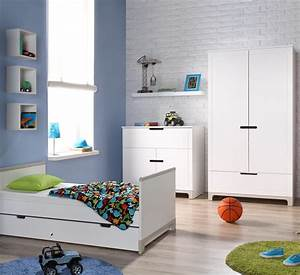 Chambre Garcon Complete : pinio mini gris gar on 3 meubles lit 160x70 commode armoire 2 portes baby ~ Teatrodelosmanantiales.com Idées de Décoration