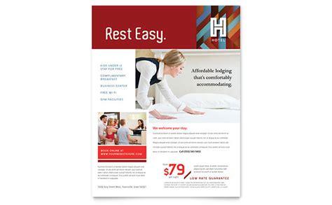 hotel flyer template design