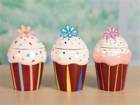 cupcake canisters for kitchen cupcake kitchen canisters decor my kitchen