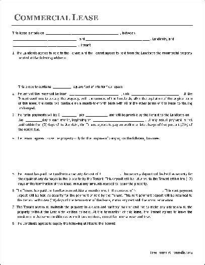 Commercial Building Lease Agreement Template by Top 5 Resources To Get Commercial Lease Agreement