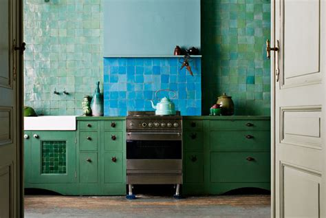 blue and green kitchen decor kitchen week colorful kitchens nbaynadamas furniture 7925