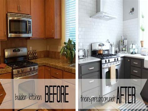 kitchen before and after painted kitchen cabinets how to