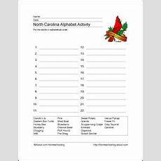 North Carolina State Facts Worksheet Elementary Version  Elementary Social Studies  4th Grade