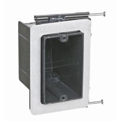 carlon floor box home depot 1 11 8 cu in non metallic drop in floor box