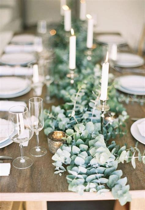 formal dining table floral arrangement 40 greenery eucalyptus wedding decor ideas deer pearl