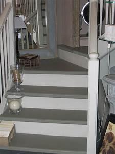 Peindre Escalier En Bois : peindre escalier bois en gris meilleures images d ~ Dailycaller-alerts.com Idées de Décoration