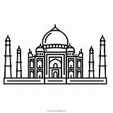 Mahal Taj Coloring Desenho Ultra Pintar Colorir sketch template