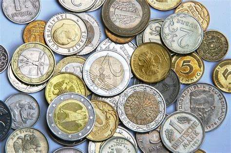 currency  coins   background stock photo