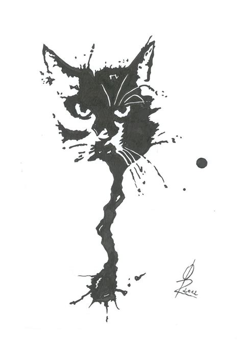 Abstract Black Cat Painting by Abstract Cat By Kingorel On Deviantart