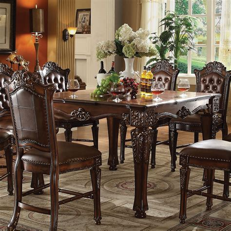 vendome formal  square counter height dining table