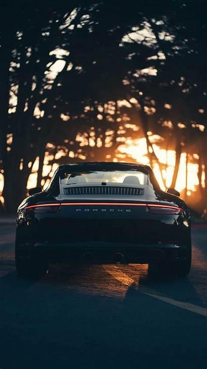 Porsche Sports Rear Sunset Sunlight Unsplash Background