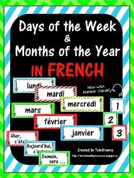 french days   week  months labels  tchrbrowne tpt