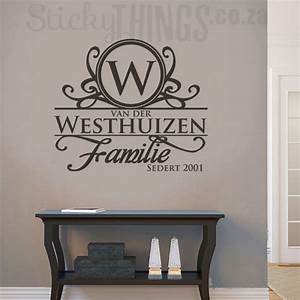 Afrikaans Surname Wall Art - Surname Decal from