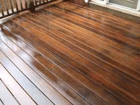 in the process of staining a deck with benjamin moores