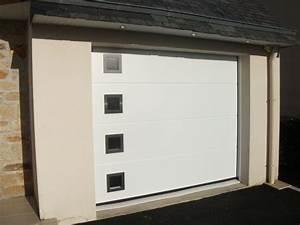 porte de garage aluminium maconserpag With porte de garage avec portillon integre prix