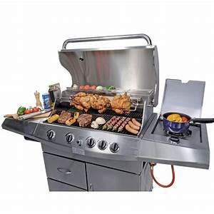 Barbecue Gaz Avec Plancha Et Grill : barbecue gaz 4 feux achat vente barbecue barbecue ~ Melissatoandfro.com Idées de Décoration