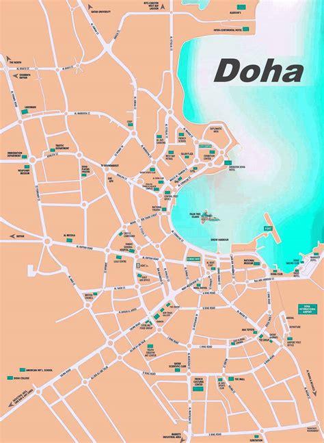 doha sightseeing map