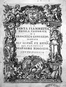 Francesco Contarini  La Finta Fiammetta  1610   Title Page Of The First