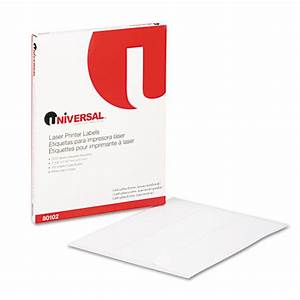 Unv80102 laser address labels by universal for Universal laser printer labels template