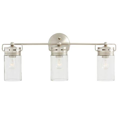 lowes vanity lights shop allen roth 3 light vallymede brushed nickel