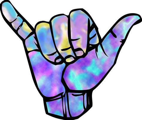 Shaka sign Sticker by FiClothes | Shaka sticker, Hand ...