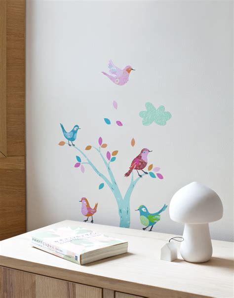 sticker mural chambre fille sticker chambre fille les oiseaux abigail brown