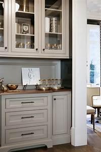Warm White Kitchen Design & Gray Butler's Pantry - Home
