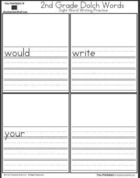 Second Grade Handwriting  Hand Writing