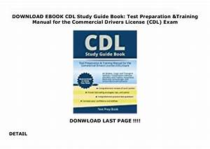 Download Ebook Cdl Study Guide Book  Test Preparation