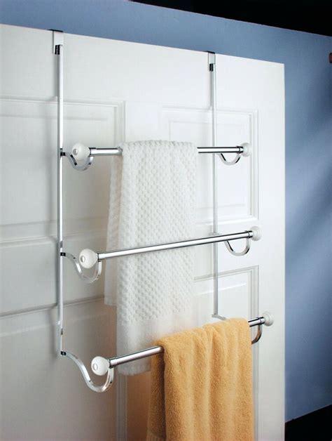 door  tier bathroom towel bar rack chrome