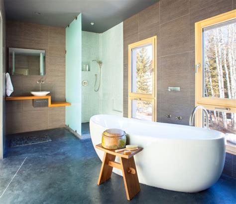 17+ Concrete Bathroom Floor Designs, Ideas  Design Trends
