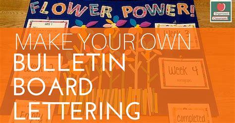 bulletin board lettering tutorial