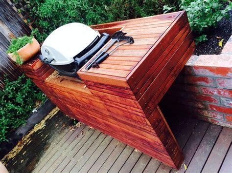 weber  decking bench bbq backyard outdoor diy
