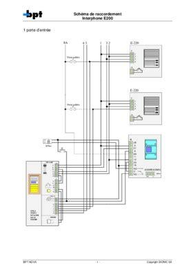 interphone bpt schema une porte d entree 3 poste pdf notice manuel d utilisation