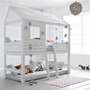 Silversparkle children39s treehouse high hut bed lifetime for Deco chambre enfant avec futon achat