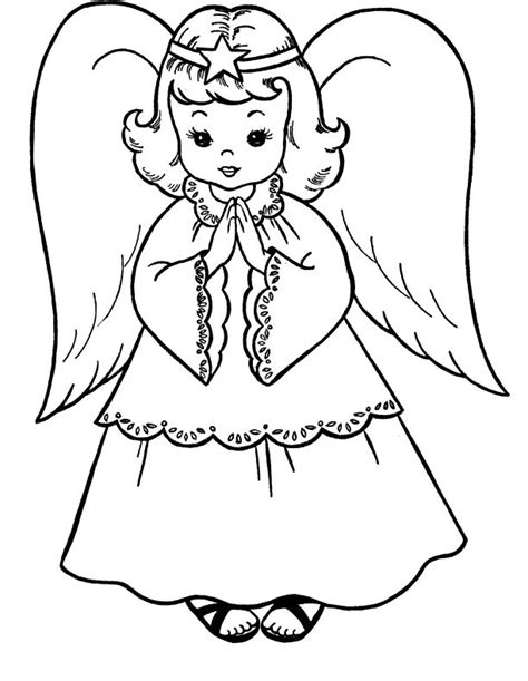 pictures christmas angel coloring  kids christmas