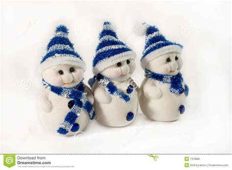 small snowmen stock image image  soft small