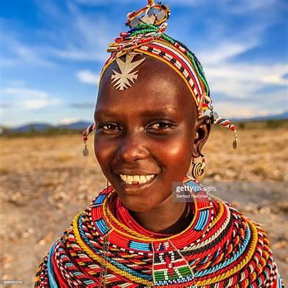 African Tribe Woman Kenya Portrait Samburu Africa