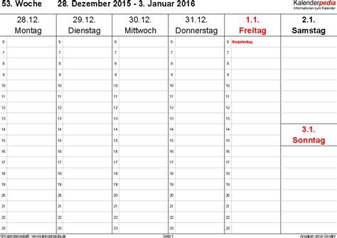 wochenkalender  als  vorlagen zum ausdrucken