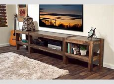 Rustic Reclaimed Pallet Wood Style Entertainment Center TV