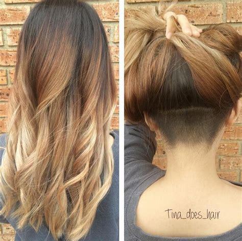 stylish fancy undercut hairstyle check  chic glam