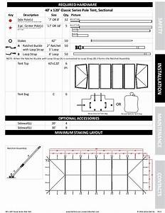 40 X 120 Pole Tent Installation Instructions