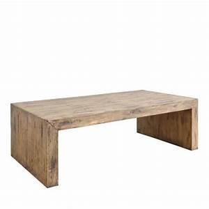 Table Bois Rectangulaire : table basse rectangulaire en bois massif pin achat ~ Teatrodelosmanantiales.com Idées de Décoration